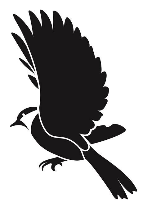 printable stencils of birds flying bird stencils clipart best