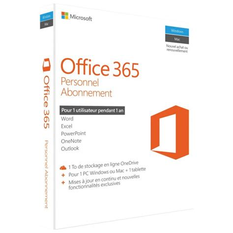 Office 365 License 1 Year microsoft office 365 personal subscription 1 pc or mac license 1 year box pack medialess