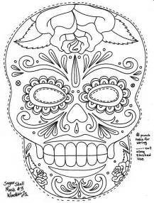 day of the dead skull template sugar skull coloring page coloring home