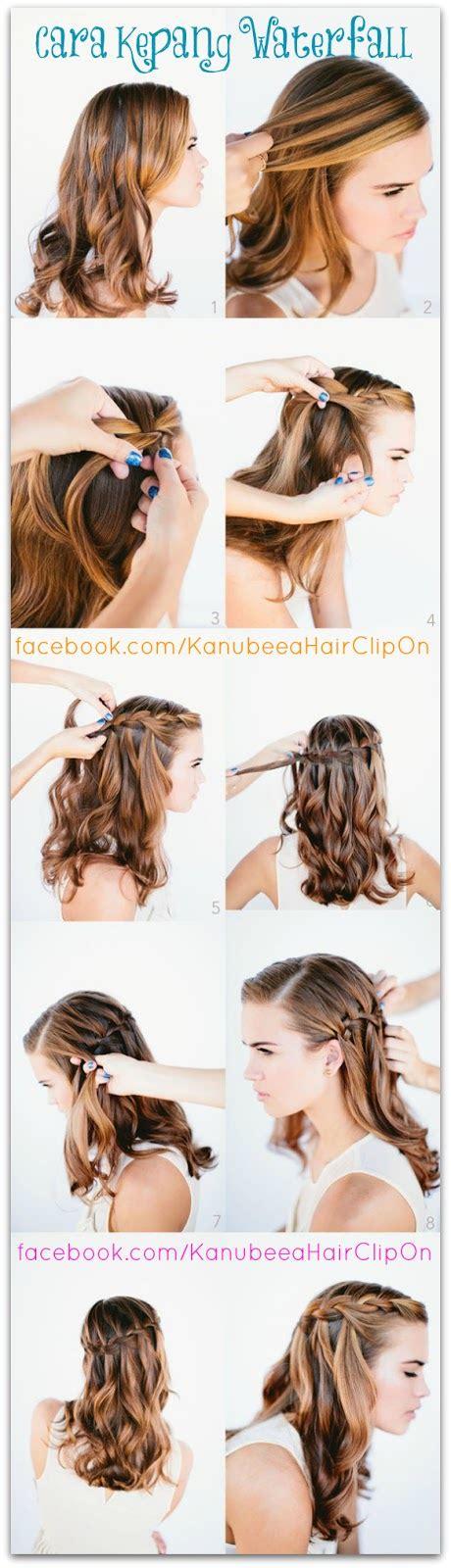tutorial cara kepang rambut sendiri membuat kepang sederhana ala wanita prancis animegue com