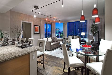 Cool Studio Apartments inside a luxury las vegas high rise condo at turnberry