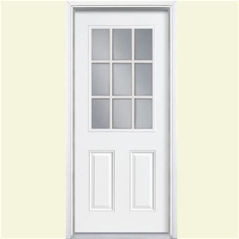 masonite 32 in x 80 in 9 lite primed steel prehung front