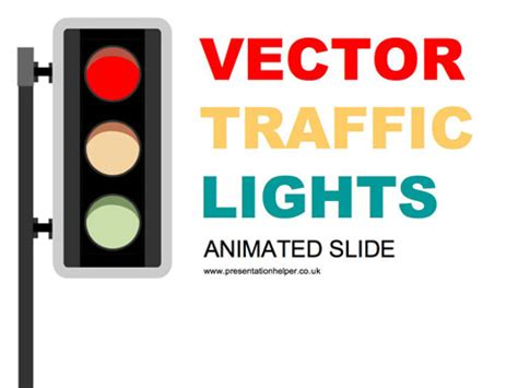 Animated Traffic Light Powerpoint Slide Animated Powerpoint
