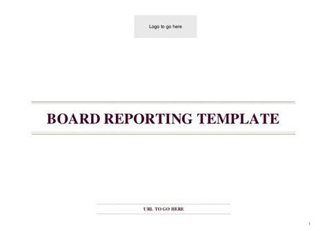 board report template board reporting template