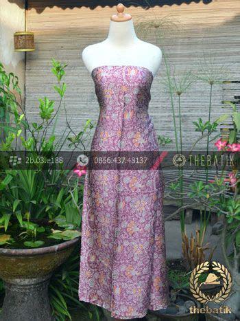 Kain Batik Bahan Batik Silki kain batik sutera motif floral ungu indonesia batik on