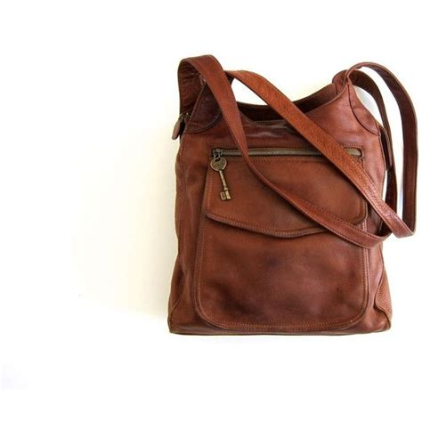 Fossil Tote Fringe Tas Fossil Kutil Brown Leather Ori bags handbag trends fossil purse leather cross boho bag cognac brown shoulder bag 90s