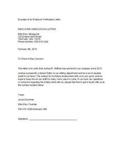 employment letter template 40 proof of employment letters verification forms