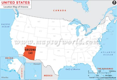 arizona map usa where is arizona located in us map