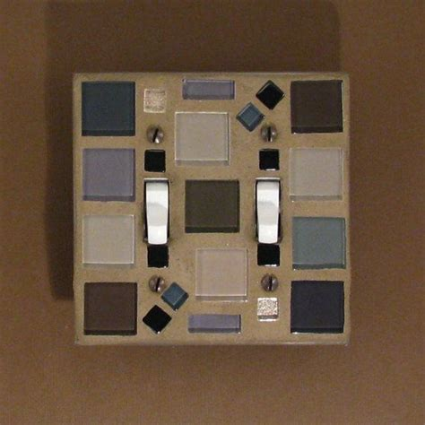 glass light switch covers mosaic glass light switch plate black gray taupe
