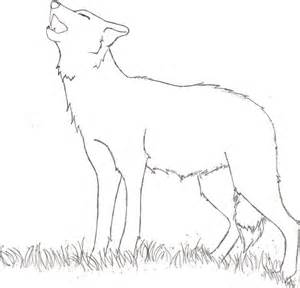 howling wolf coloring pages sketch drawings of wolves howling to the moon coloring pages
