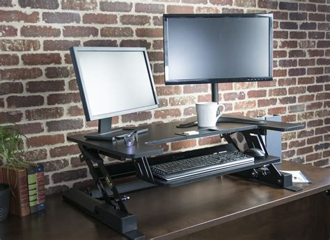 Vivo Height Adjustable Standing Desk Monitor Riser Tabletop Standing Desk