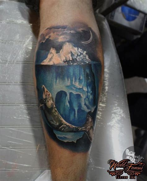 iceberg whale on guys calf best ideas designs