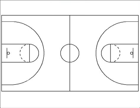 Basketball Court Diagrams Printable Diagram Site Basketball Lines Template