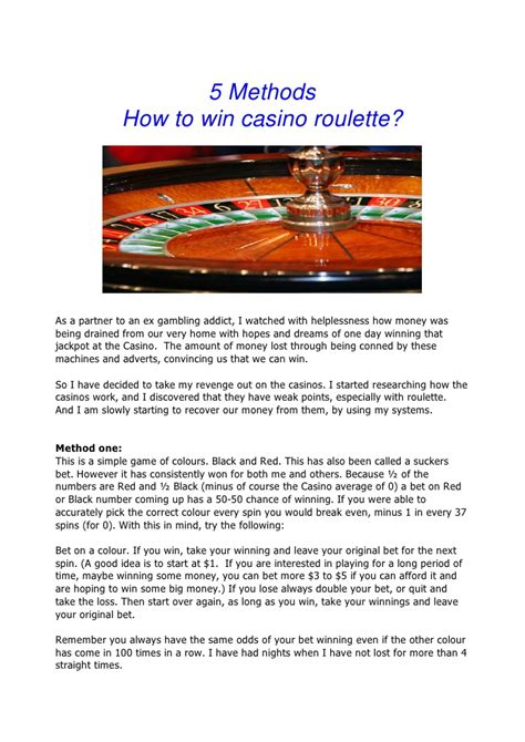 How To Win Money On Roulette - casino roulette strategy images usseek com