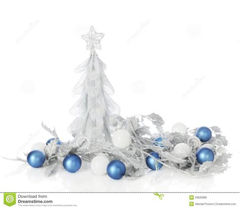 white blue ornaments silver blue stock photo image of frosty silver