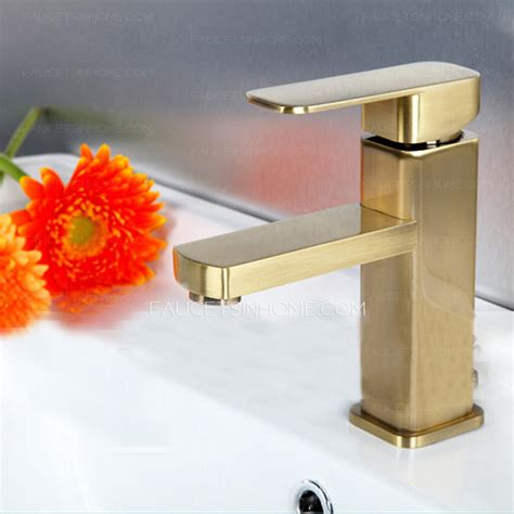 Good Bathroom Sink Hot Water Valve Leaking #5: Simple-Brushed-Gold-Square-Shaped-Bathroom-Sink-Faucet-FTSIH150416062522-1.jpg