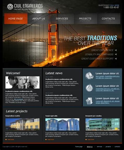 engineering template engineering website template best website templates