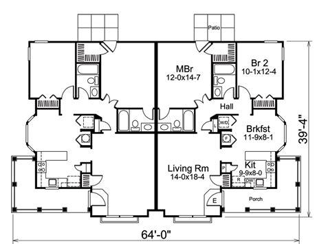 multi unit home plans multi unit house plan 138 1258 2 bedrm 2030 sq ft per