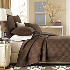 real simple coverlet real simple 174 dune coverlet in chocolate bed bath beyond