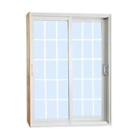Stanley Patio Doors Stanley Doors 60 In X 80 In Sliding Patio Door With 15 Lite White Flat Grill