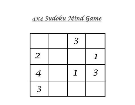 printable sudoku 4x4 4x4 sudoku 5