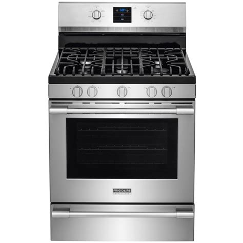 Lu Gas Proof shop frigidaire professional 5 burner freestanding 5 6 cu ft self cleaning true convection gas