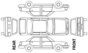 vehicle damage diagram car interior design