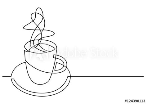 continuous  drawing  cup  coffee buy  stock