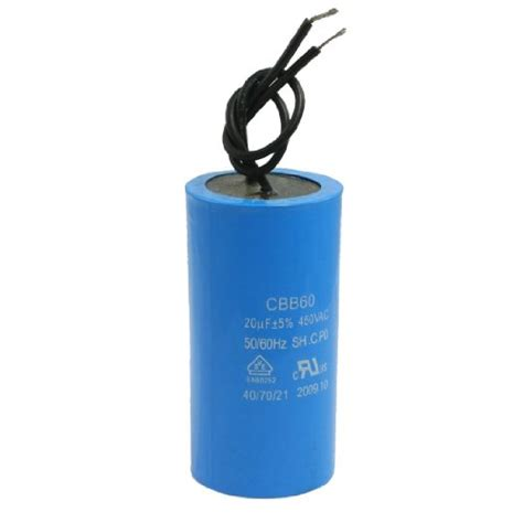 capacitor sh type uxcell a12040700ux0063 cbb60 sh 20uf 450vac cylinder shape polypropylene capacitor