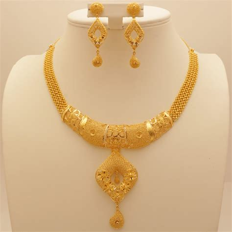 jewelry gold 22 carat indian gold necklace set 58 grams gold forever