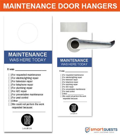 maintenance door hanger template dnd door hangers