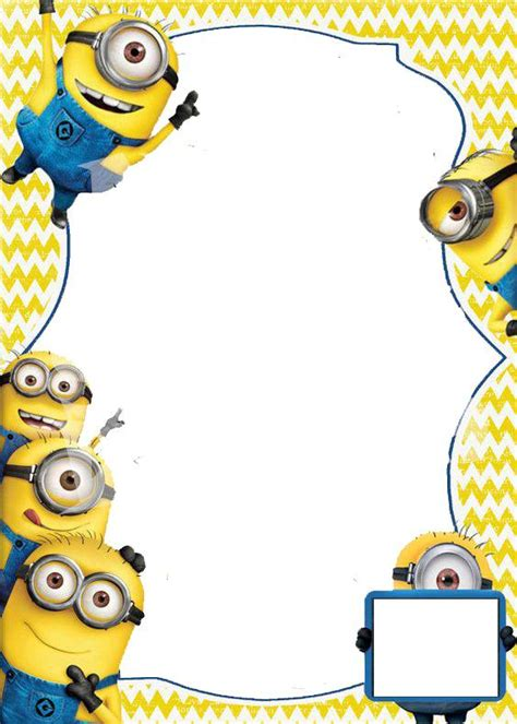 Minion Invitations Template minion invitations template design cakraest invitation template