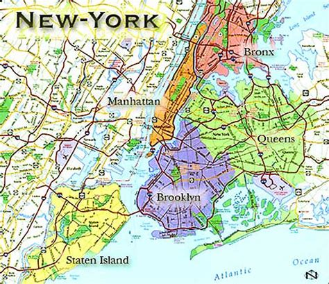 new york sections sections of new york map