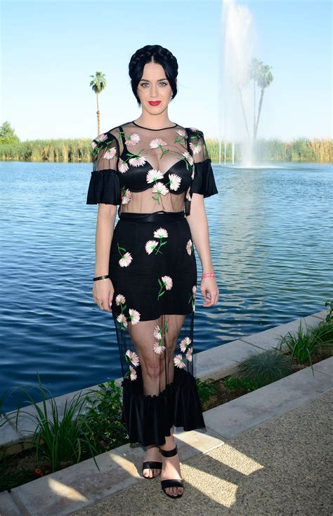 Katy Perry Coachella 2015 | katy perry channeled her romantic side in a sheer floral