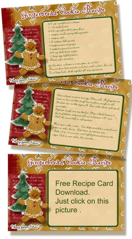 Gingerbread Recipe Card Template by 17 Best Images About Scrappin For Cookbooks On