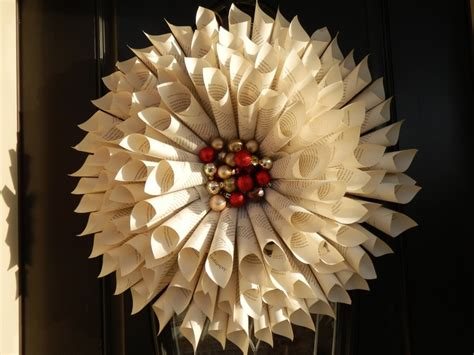 Paper Wreath Craft - paper wreath arts and crafts