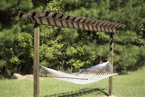 pergola hammock stand plans planning diy hammock stand