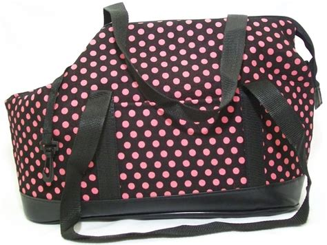 carrier purse for shih tzu tote carrier purse bag pink polka dot soft sided small teacup