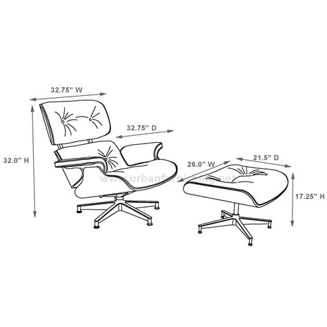 eames lounge chair and ottoman dimensions eames style lounge chair and ottoman 100 aniline