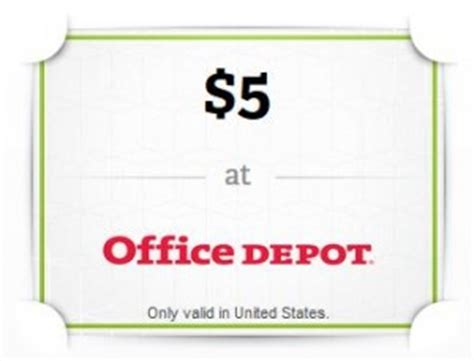 Office Depot Gift Cards - wrapp com free 5 office depot gift card southern savers