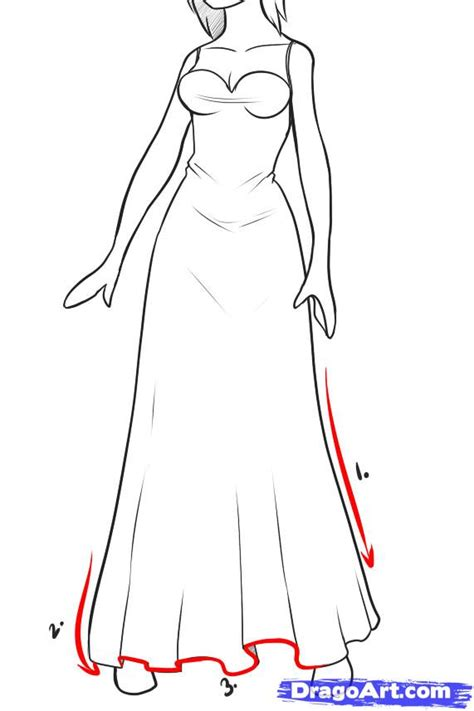gown pencil and in color gown