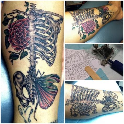 ribcage tattoo skeleton rib cage designs inspirations
