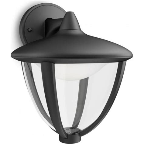 Philips Outdoor Lighting Philips Robin Single Light Led Outdoor Wall Fitting In Black Finish Lighting Type From