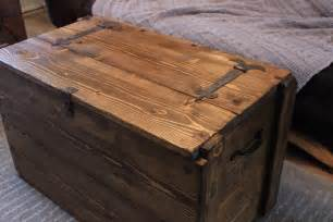 Wooden Chest Coffee Table Rustic Wooden Chest Trunk Blanket Box Vintage Coffee Table Ebay