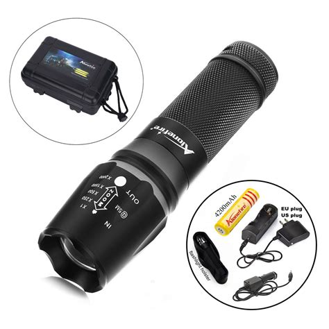 Senter Swat Cree T6 Higlght Tourch 1 Baterai alonefire x800 1set zoomable 4000lm gun tactical flashlight repair torch cree t6 led cing