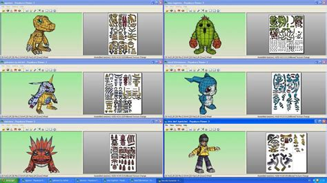 Digimon Papercraft - digimon collection papercrafts by michelcfk on deviantart