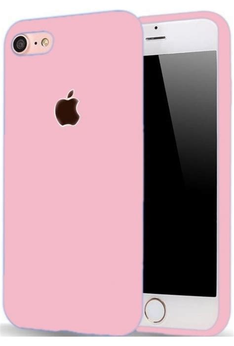 iphone 6 6s with apple logo cut pink soft silicone mobile back cover shopping cardio