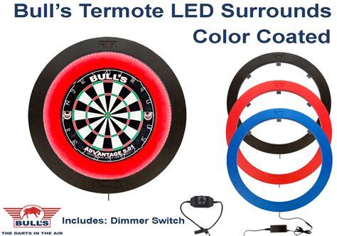 dart board lights led bulls termote led dartboard lighting system blue