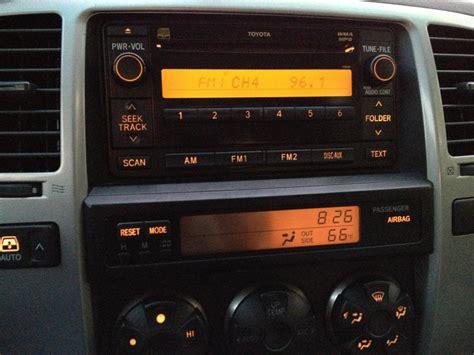 toyota 4runner radio background light