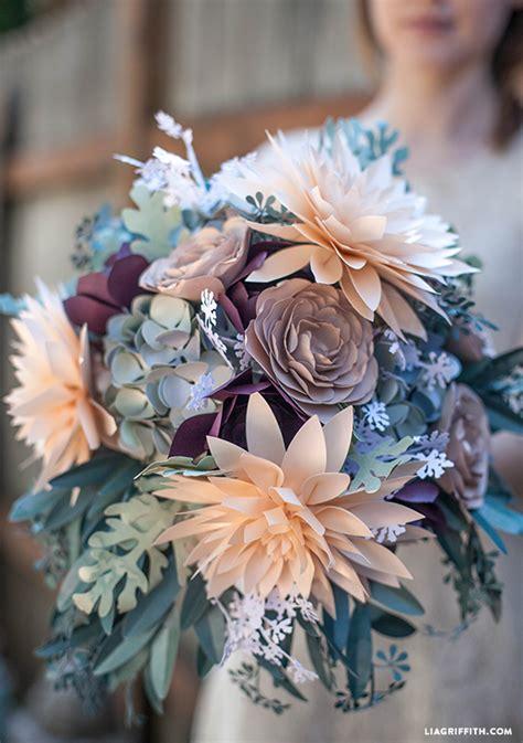 How To Make Paper Flower Wedding Bouquet - 75 diy paper flowers tutorials diy for